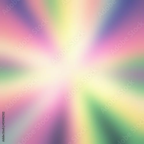 Fotografia, Obraz Intentional blur: many stripes converging to form a circle inside a square