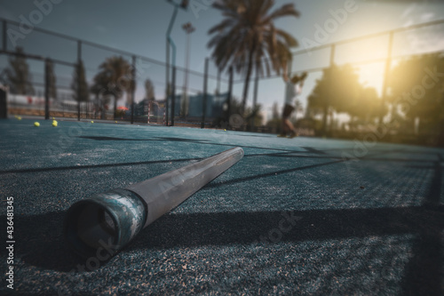 outdoor paddle tennis court. sport
