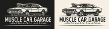 Muscle Car Garage Service Vintage Badge
