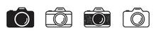 Camera Icon Set. Photo Camera Icon In Different Style. Vector Illustration