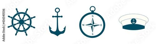Canvastavla nautical icon