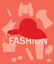 Woman Fashion Background, Vector Illustration