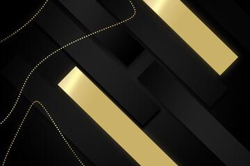 Czarne tło z elementami złota