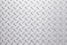 Light Metal Texture With Diamond Print, Silver Background
