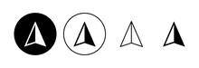 Compass Icon Set. Arrow Compass Icon Vector