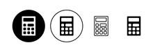 Calculator Icon Set. Accounting Calculator Icon. Calculator Vector