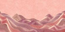 秋 和紙 波紋 背景