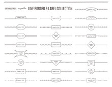 シンプルなボーダーライン&ラベルのセット