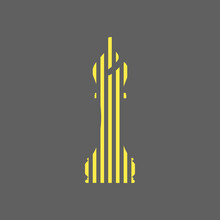 Vector Illustration Of Chess Bishop Pieces Icon. Chess Bishop Pieces In Digital / Pixel Style