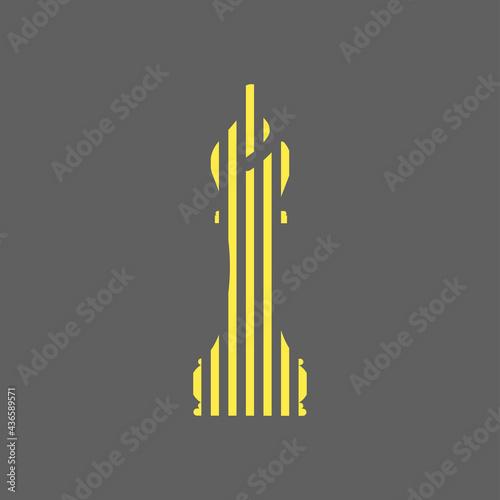 Stampa su Tela Vector illustration of chess bishop pieces icon