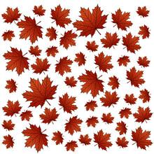Maple Autumn Leaves Seamless Pattern Stock Vector