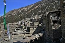 Gunsang Village Himalayan. Around Annapurna Trek. Nepal. Asia.
