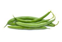 Fresh Green Beans (String Bean )on White Background.