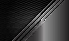 Abstract Metal Black Line Circuit Slash On Dark Circle Mesh Design Modern Luxury Futuristic Technology Background Vector Illustration.