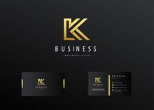 Letter K Logo Icon Modern Style Outline Illustration