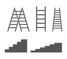 Ladder Stairs Icon Set