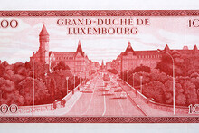 View Of Adolphe Bridge From Luxembourgish Francs