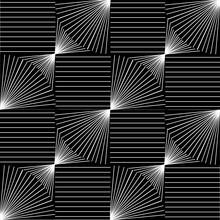 Liniowy, Czarno-biały Wzór.