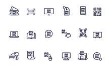 QR Code Icons Vector Design