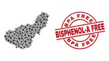 Bpa Free Bisphenol-A Free Grunge Seal, And Granada Province Map Collage Of Air Force Items. Collage Granada Province Map Created Using Air Force Symbols.