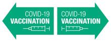 Covid 19 Vaccine Vector Icon Badge.