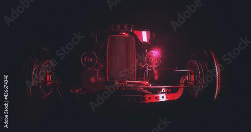 Fototapeta Hot Rod 3D render