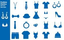 Mode Et Vêtements En 20 Icônes Bleus, Collection