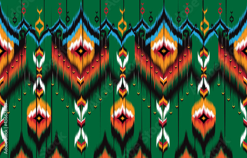 Canvastavla Ikat geometric folklore ornament