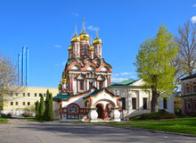 In 1657, He Commissioned The Royal Gardener Averky Kirillov To Build The Stone Church Of St. Nicholas On The Bersenevskaya Embankment. Russia, Moscow, May 2021.