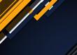 Abstrakcyjne granatowe tło - geometryczne kształty z czarnymi paskami. Szablon z miejscem na Twój tekst, produkt, tapeta, ilustracja dla social media story, internetowe projekty, aplikacje mobilne.