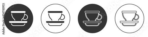 Black Coffee cup icon isolated on white background Fototapet