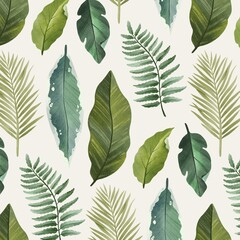 Hand Painted Watercolor Botanical Pattern_2