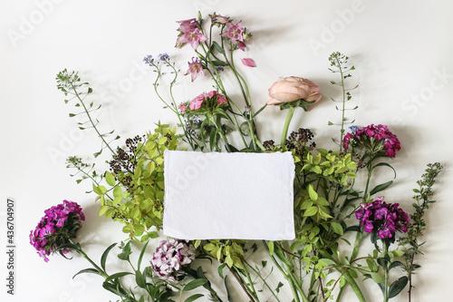 Fotografia, Obraz Summer greeting card, invitation mockup