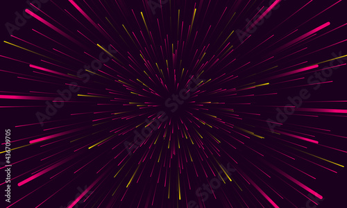 Valokuva Speed lights abstract background travel through time and space