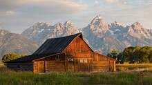 A Cabin By The Mountains