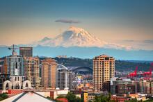 Mt. Rainier From Seattle, Washington, USA
