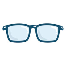 Isolated Fashion Hipster Eyeglasses Sketch