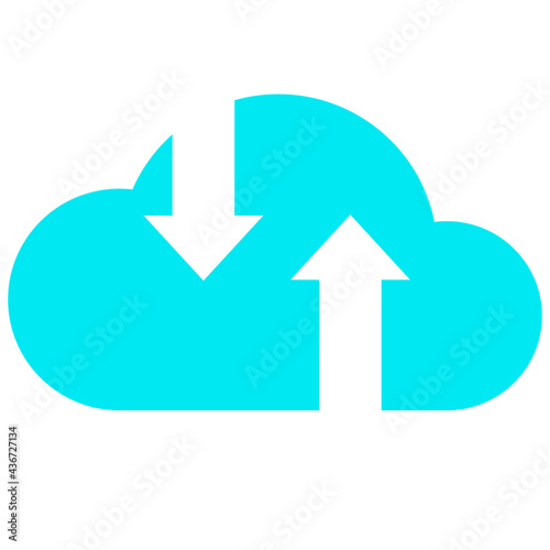 Canvas Print business data cloud information technology