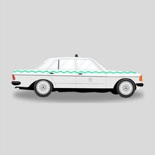 Image Vectorielle D'une Voiture Mercedes 240 Vintage