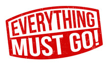 Everything Must Go Grunge Rubber Stamp