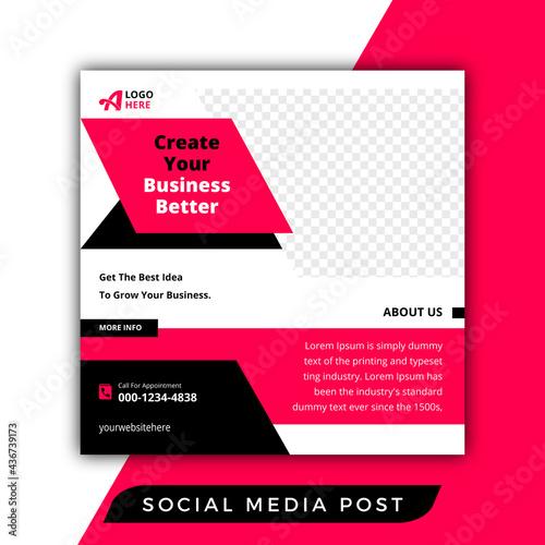 Modern better business social media post Fototapet