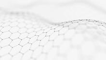 White Hexagon Texture Background
