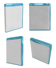 3D Rendering - High Resolution Image Blu-ray Case Isolated On A White Background  High Quality Details