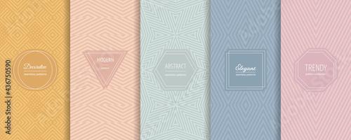 Canvas Print Vector geometric seamless patterns