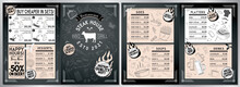 Steakhouse, Barbecue Grill Bar Menu Template - A3 To A4 Card (sides, Soups, Platters, Drinks, Desserts, Sets)
