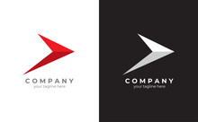 Arrow Logo Template. Symbolizes An Optimistic Vision For The Future. Vector Eps