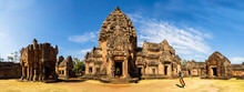 Prasat Khao Phanom Rung Is A Stone Laterite Castle. There Are Tourists During COVID-19, Buriram Province, Thailand.