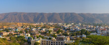 Beautiful View Of Pushkar Town In The Ajmer District In The Indian State Of Rajasthan.