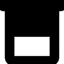 Beaker Glyph Vector Icon