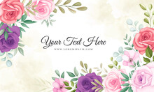 Elegant Floral Background With Beautiful Flowers